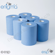 Embossed Blue Roll Towel
