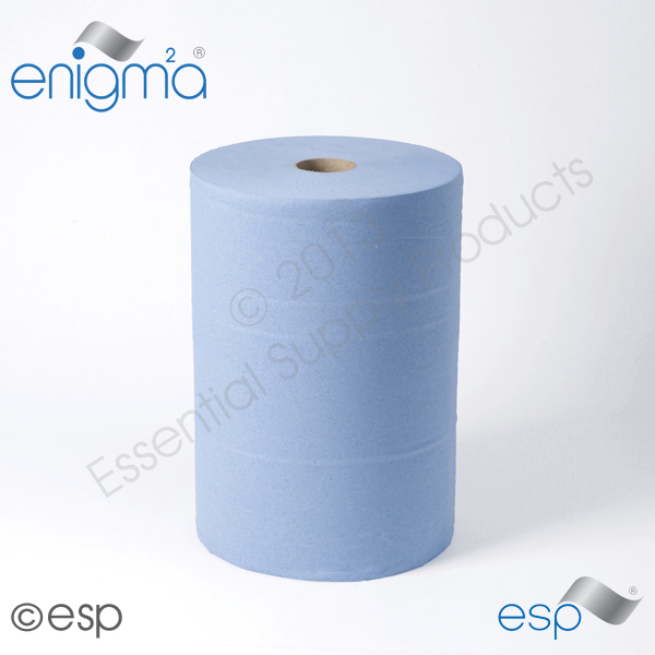 1-Ply Blue Industrial Rolls