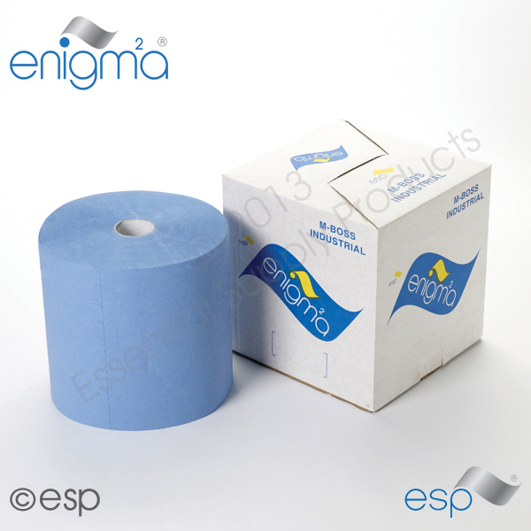 Embossed Blue Boxed Industrial Rolls
