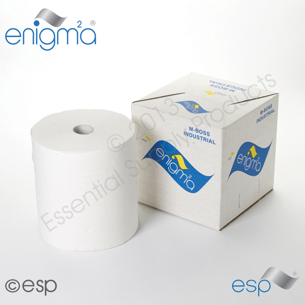 Embossed White Boxed Industrial Rolls