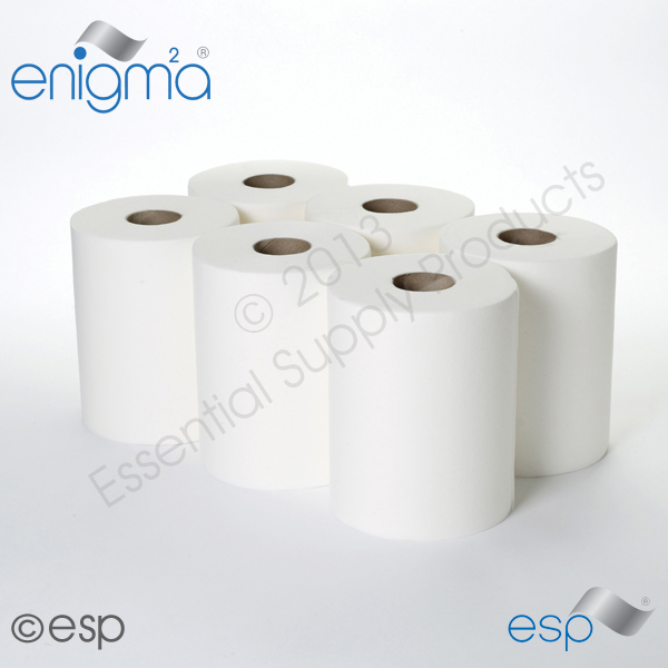 1 Ply White Airlaid CentreFeed 50M  x 230mm x 60mm 138 Sheets