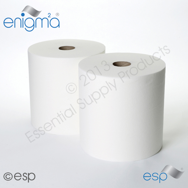 1 Ply White Airlaid Roll 144M x 280mm x 60mm 400 Sheets