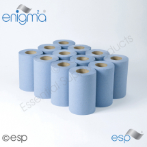 1Ply Blue Mini CentreFeed Roll 120M x 190mm x 70mm