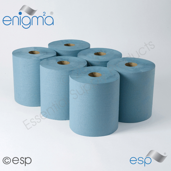 1 Ply Blue Roll Towel 180M x 200mm x 45mm