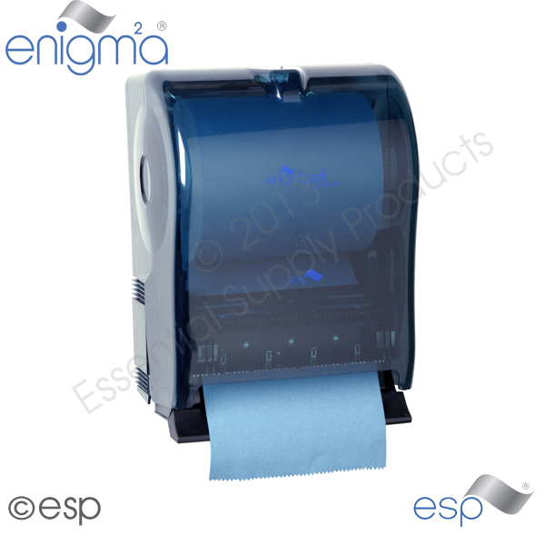 Mechanical Lever Towel Dispenser Blue