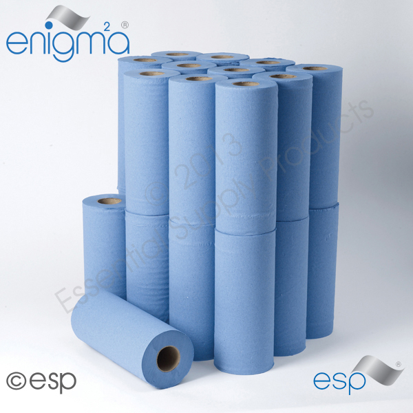 2 Ply Blue Hygiene Roll 40M x 250mm x 45mm 111 Sheets
