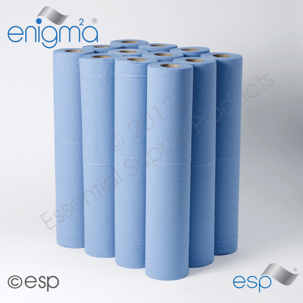 2 Ply Blue Hygiene Roll 40M x 500mm x 45mm 111 Sheets