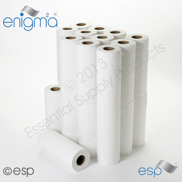 2 Ply White Hygiene Roll 40Mx 250mm x 45mm 111 Sheets