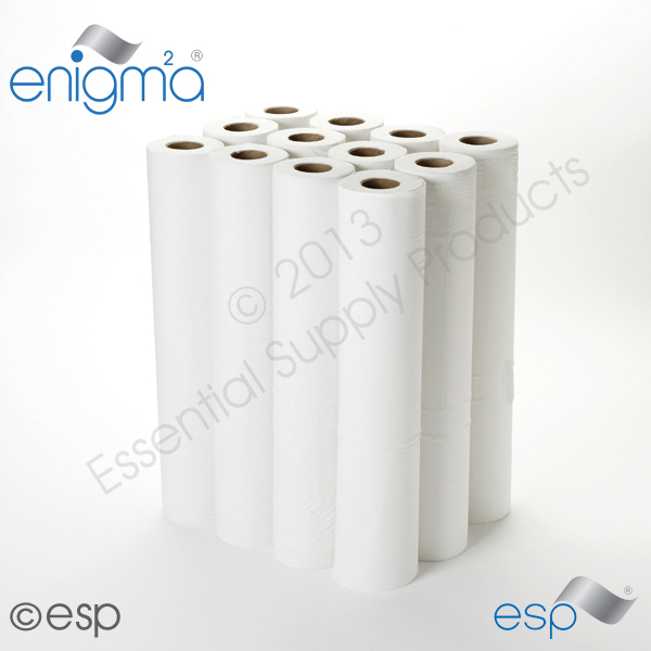 2 Ply White Hygiene Roll 40M x 500mm x 45mm 111 Sheets