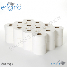 2 Ply White Embossed Micro Toilet Roll 80M x 86mm x 42mm 222 Sheets
