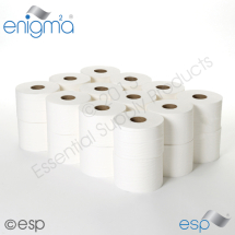 2 Ply White Micro Toilet Roll 125M x 86mm 347 sheets