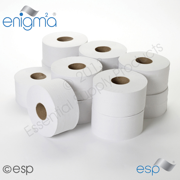 2 Ply Mini Jumbo Toilet Roll 200M x 86mm x 60mm 555 Sheets