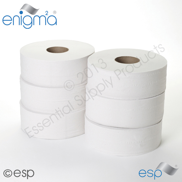 2 Ply Jumbo Toilet Roll 300M x 86mm x 80mm 833 Sheets