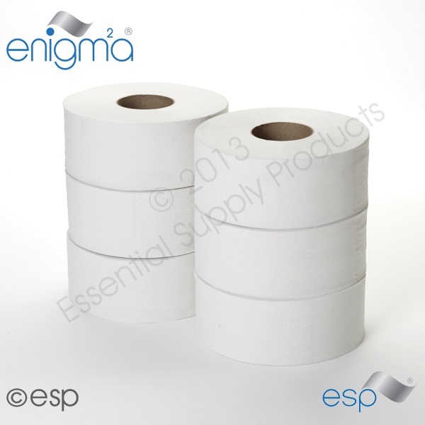1 Ply Midi Jumbo Toilet Roll 390M x 86mm x 80mm