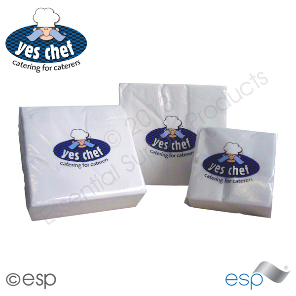 2 Ply White Napkins 250 x 250 x 100 Sheets