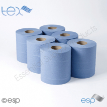 2 Ply Blue CentreFeed Rolls 100M x 175mm x 70mm 400 Sheets