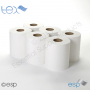 2 Ply White CentreFeed Rolls 100M x 175mm x 70mm 400 Sheets