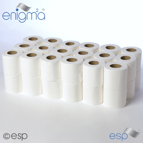 2 Ply White Toilet Roll 95mm x 105mm x 320 Sheets