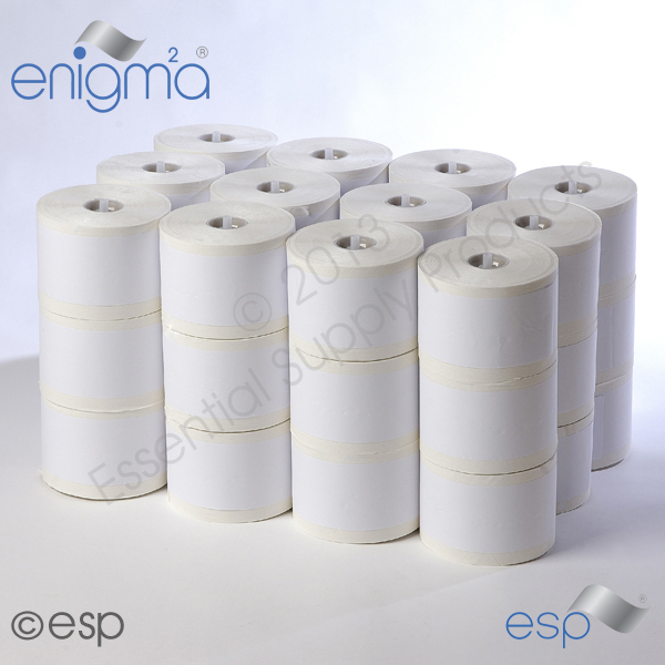 2Ply White E-Matic Toilet Roll 98mm x 120mm x 800 Sheets