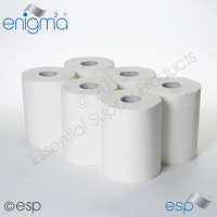 2-Ply Embossed White Continuous Roll Towel